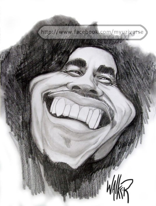 Bob Marley | Caricatures by M.L. Walker | Myuzing