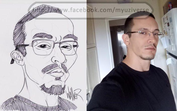 Self-Portrait Caricature | Caricatures by M.L. Walker | Myuzing