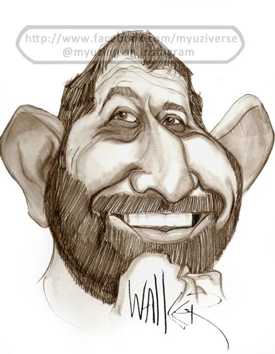 Cem Yılmaz | Caricatures by M.L. Walker | Myuzing