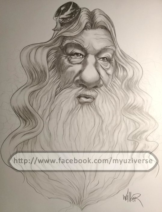 Albus Dumbledore | Caricatures by M.L. Walker | Myuzing