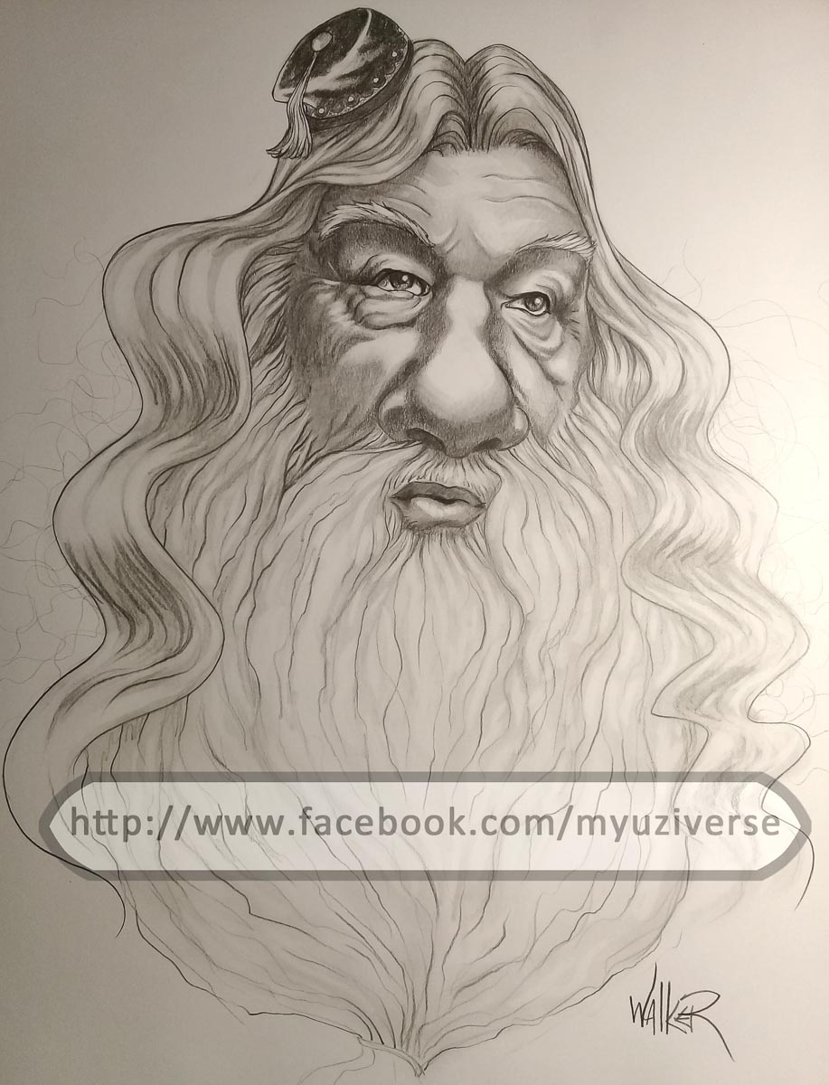 Albus Dumbledore | Caricatures by M.L. Walker | Myuzing