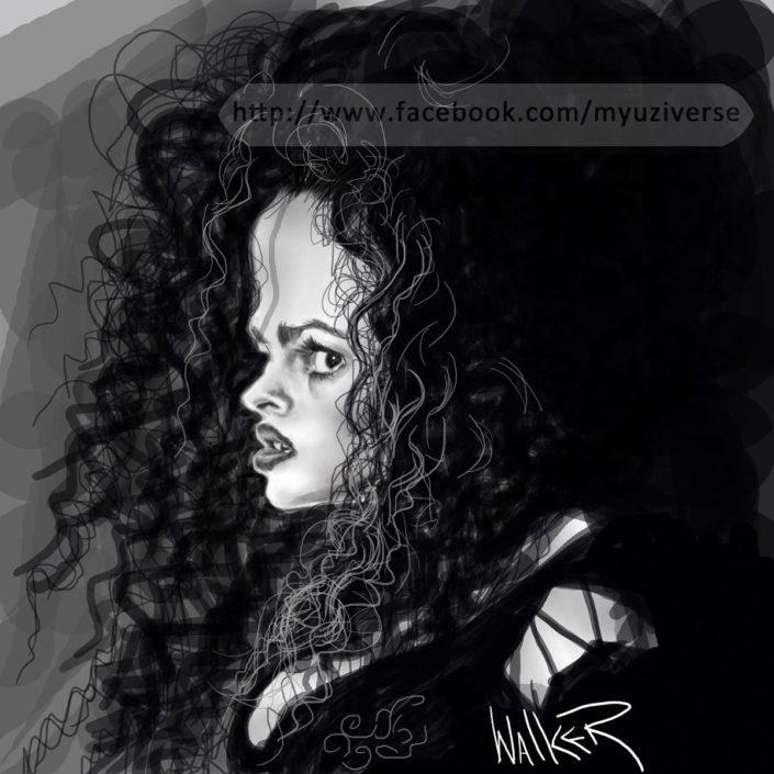 Helena Bonham | Caricatures by M.L. Walker | Myuzing