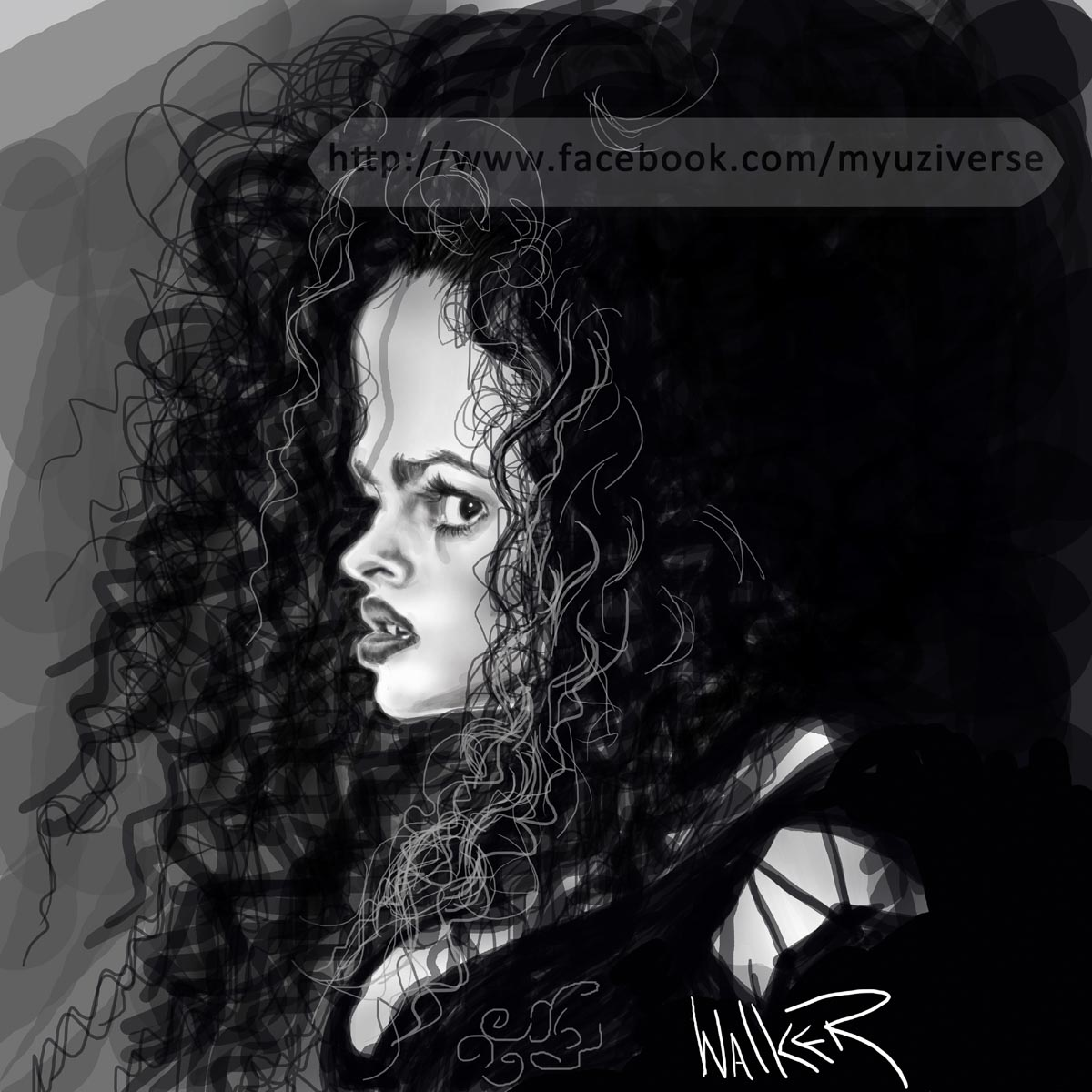 Helena Bonham | Caricatures by M.L. Walker | Myuzing