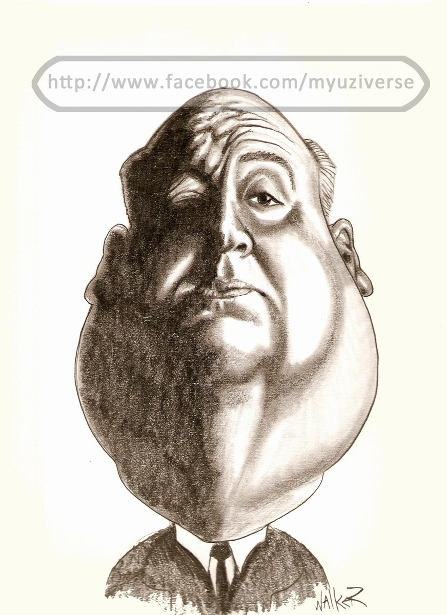 Alfred Hitchcock | Caricatures by M.L. Walker | Myuzing