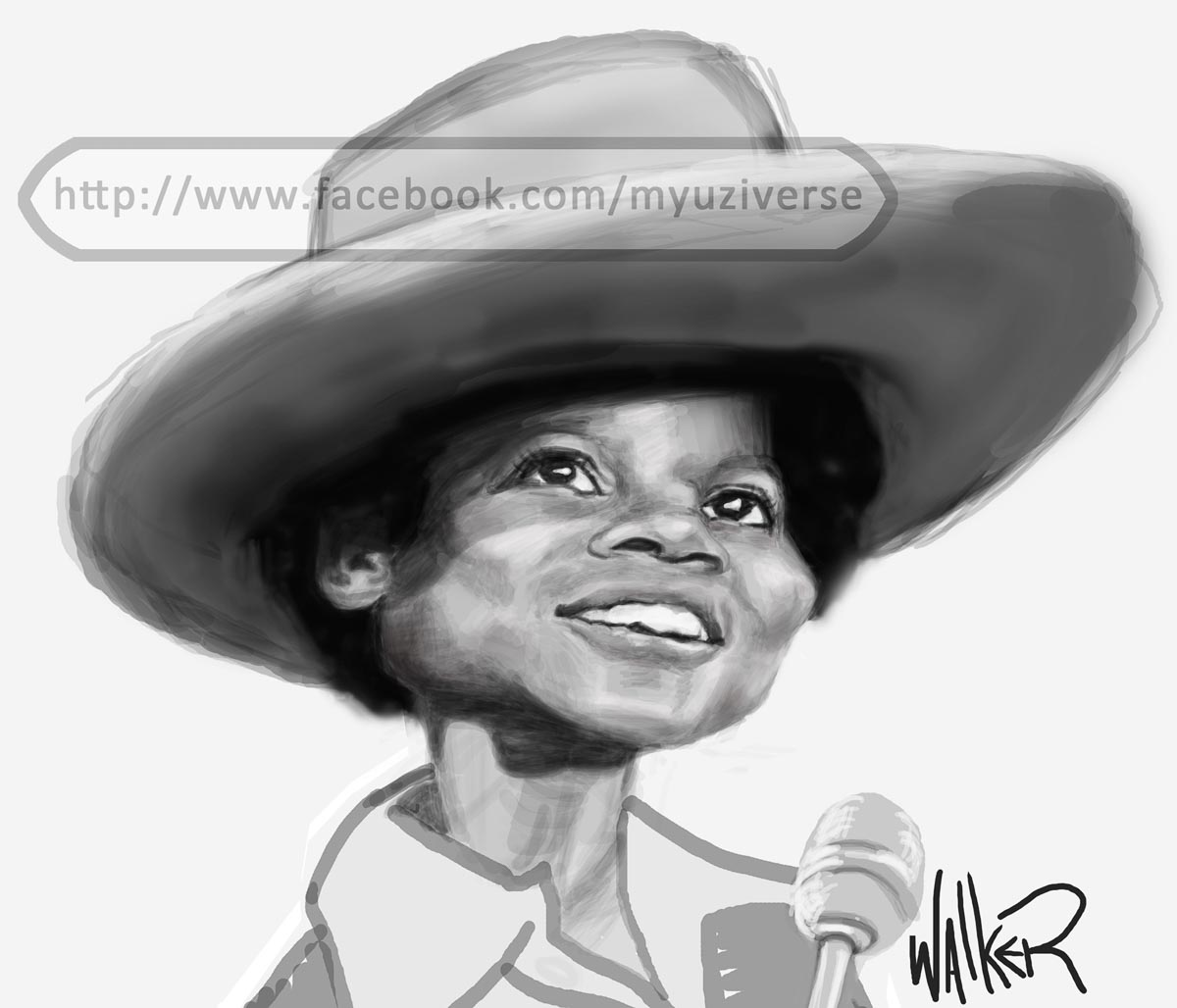 Young Michael Jackson | Caricatures by M.L. Walker | Myuzing