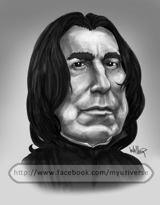 Severus Snape | Caricatures by M.L. Walker | Myuzing
