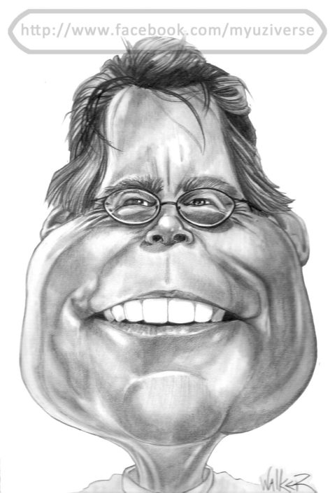 Stephen King | Caricatures by M.L. Walker | Myuzing