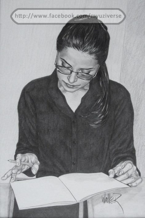 Woman Studying | Portraits by M.L. Walker | Myuzing