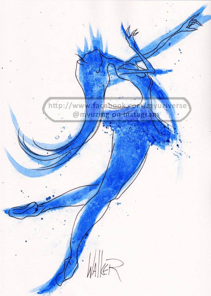 Dancer Blue | Art by M.L. Walker | Myuzing