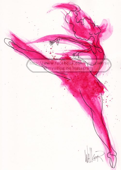 Dancer Red | Art by M.L. Walker | Myuzing