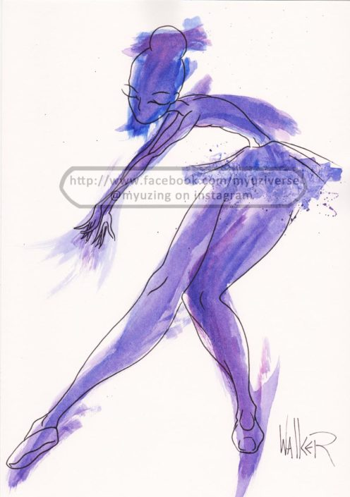 Dancer Violet | Art by M.L. Walker | Myuzing