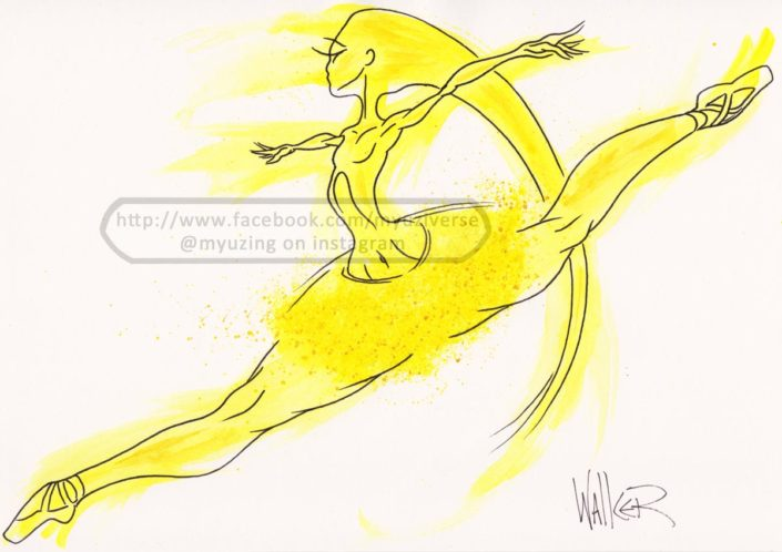 Dancer Yellow | Art by M.L. Walker | Myuzing