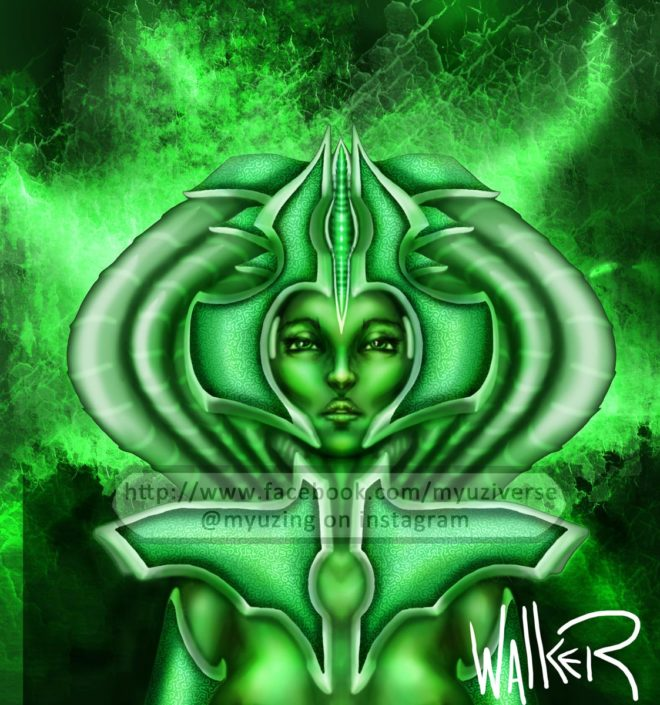 Green | Art by M.L. Walker | Myuzing