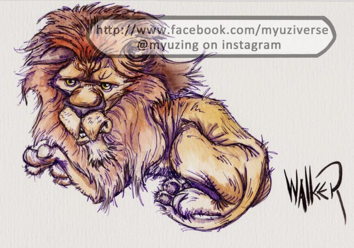 Logic Lion | Animals by M.L. Walker | Myuzing
