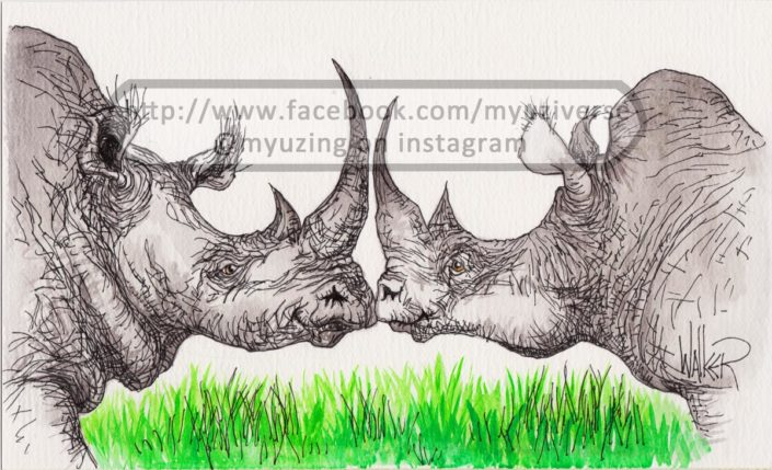Rhino love | Animals by M.L. Walker | Myuzing