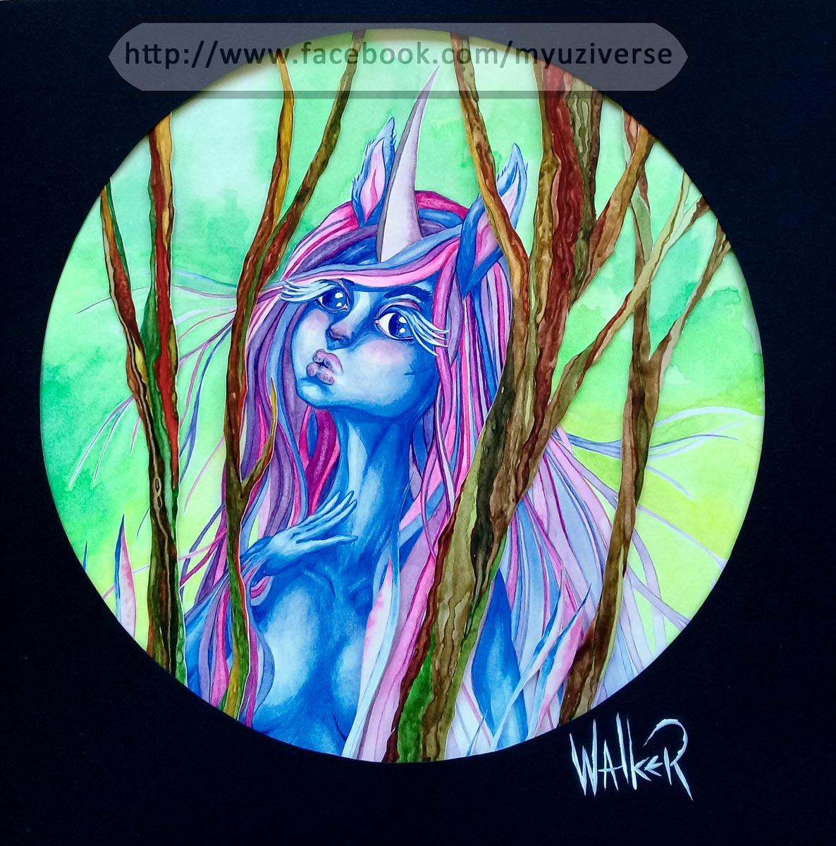 Unicorn Girl 1   Art by M.L. Walker   Myuzing