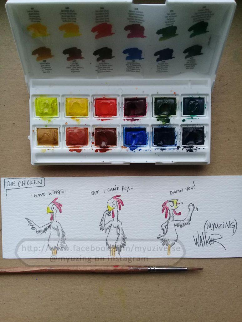 Chicken Guy 1 | Cartoons by M.L. Walker | Myuzing