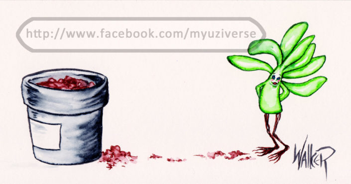 Plant Girl 1 | Cartoons by M.L. Walker | Myuzing