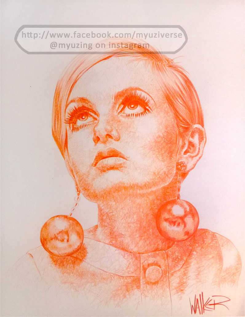 Twiggy | Portraits by M.L. Walker | Myuzing